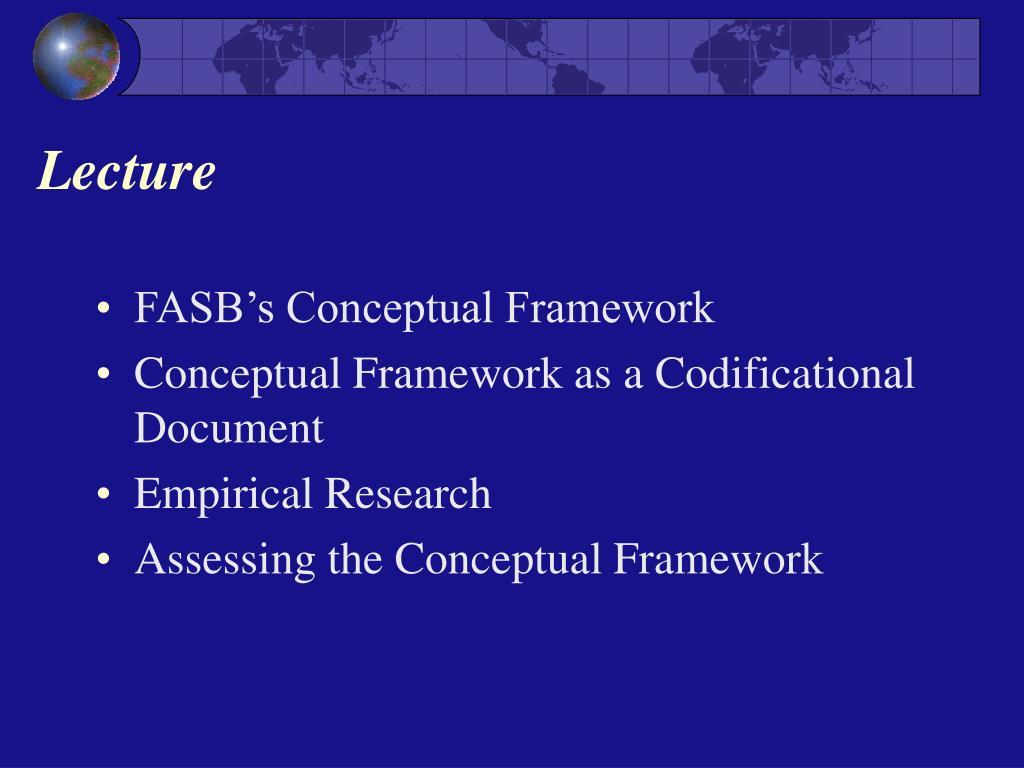 FASB's Conceptual Framework