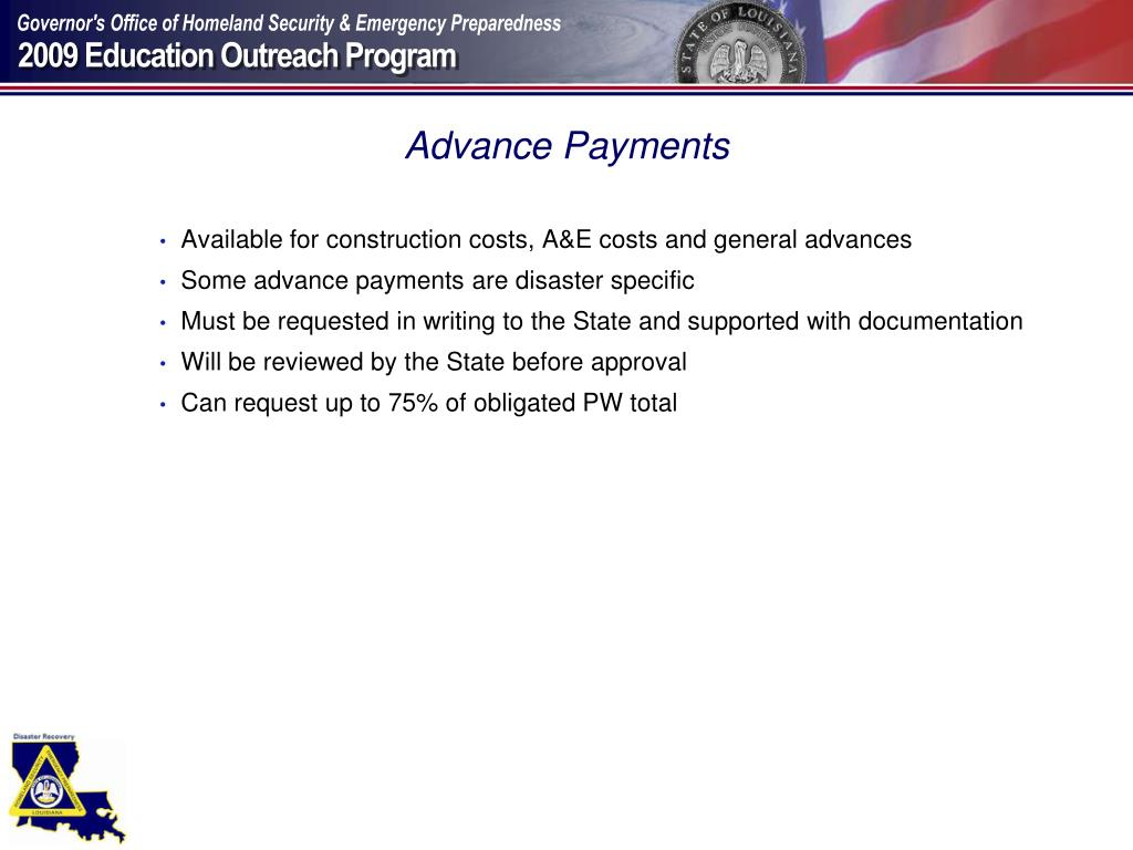 Advance Payments