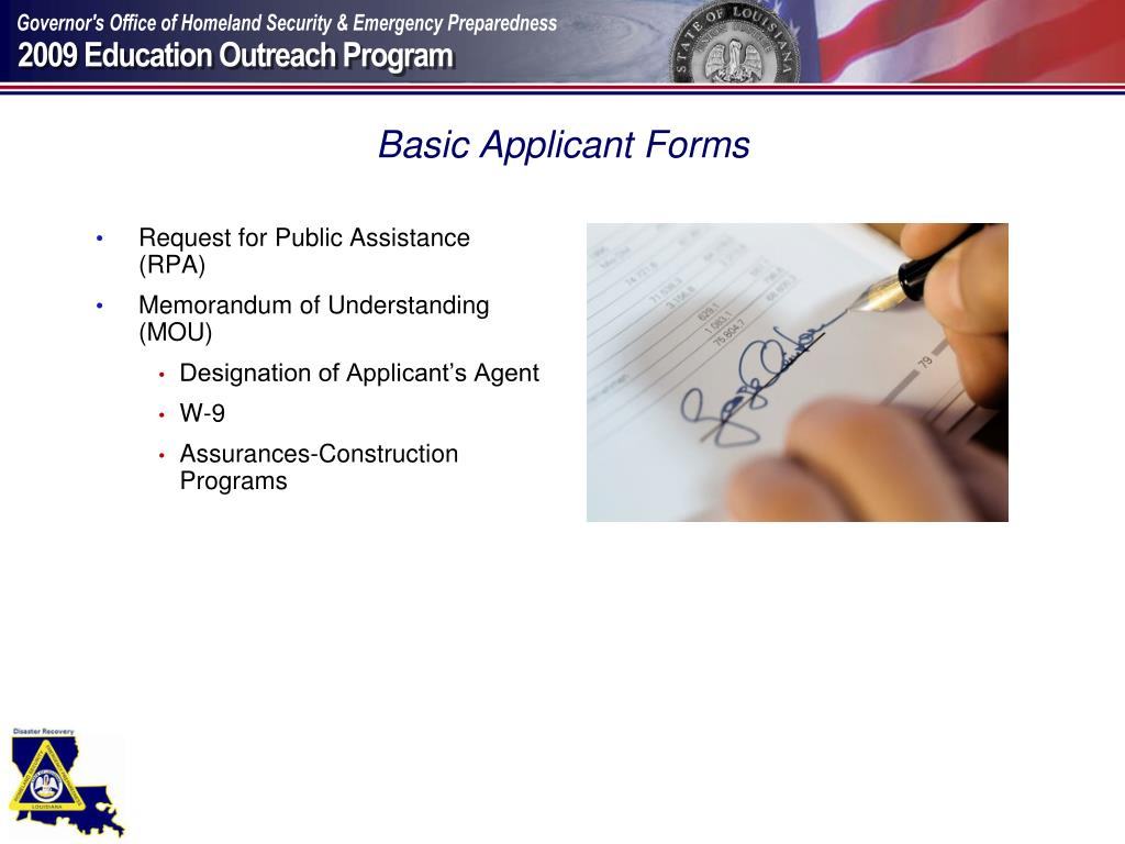 Basic Applicant Forms