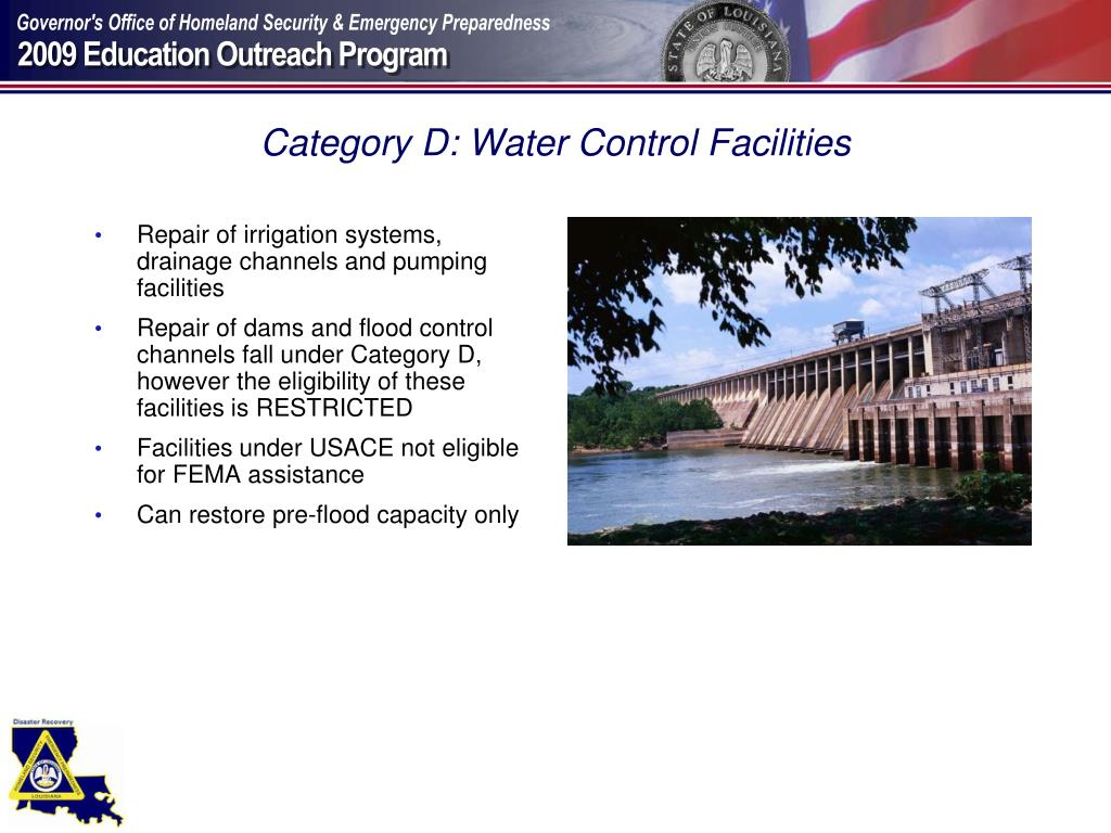 Category D: Water Control Facilities