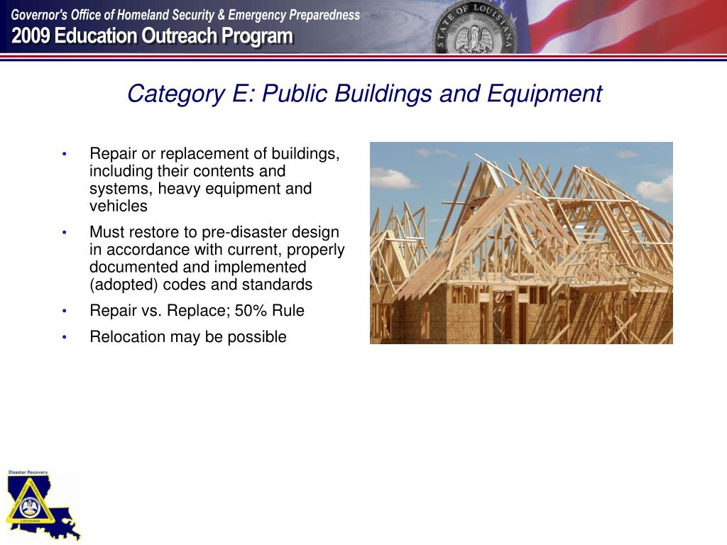 Category E: Public Buildings and Equipment