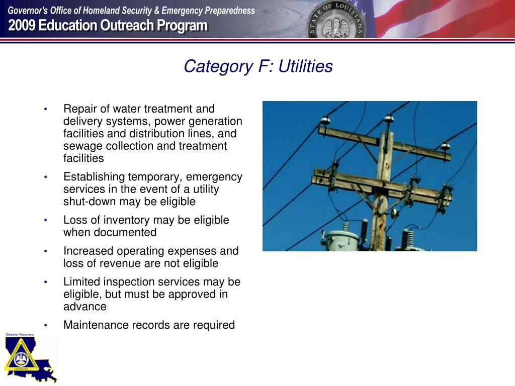 Category F: Utilities
