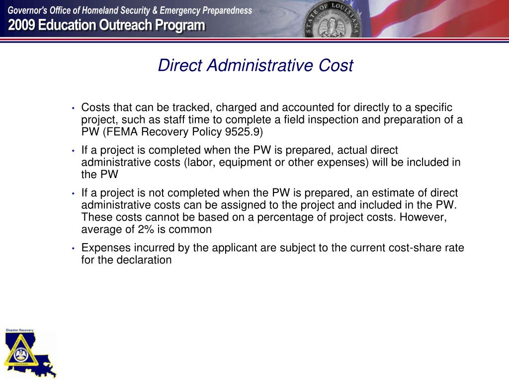 Direct Administrative Cost