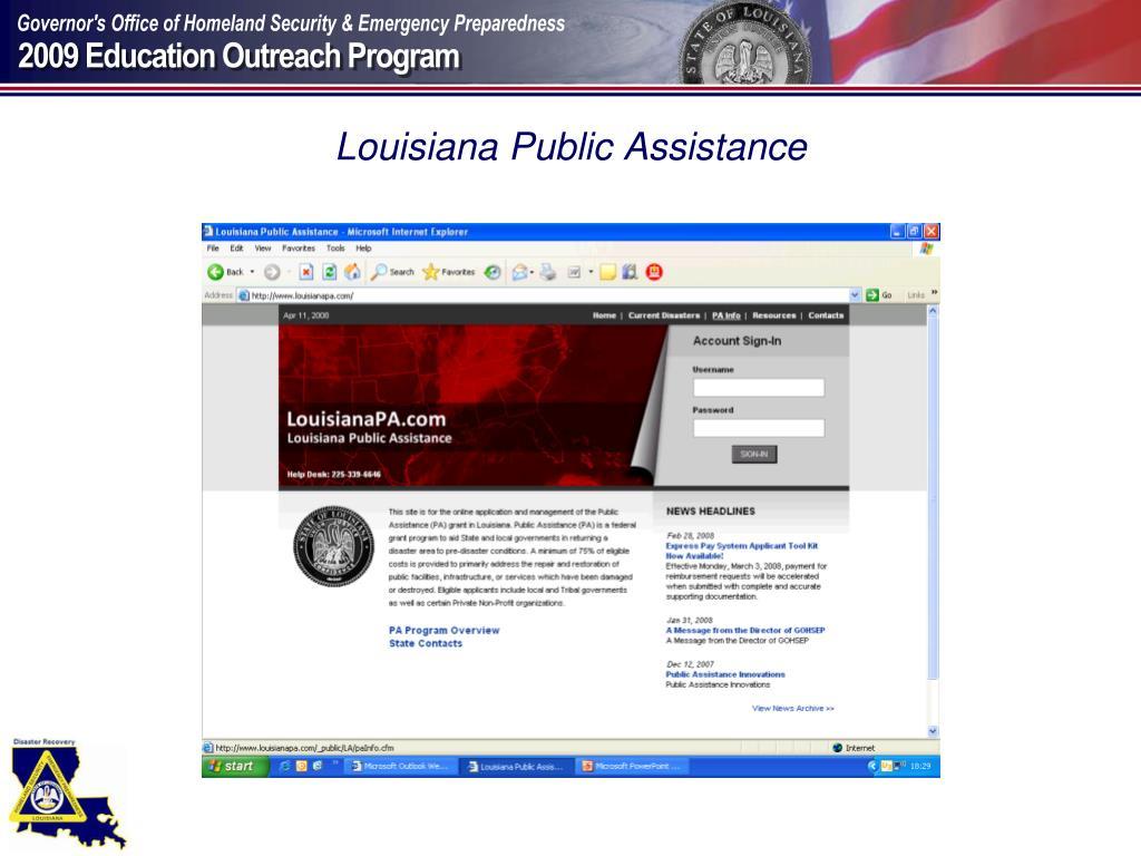 Louisiana Public Assistance