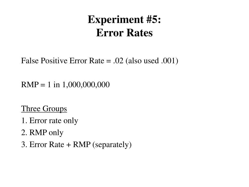 Experiment #5: