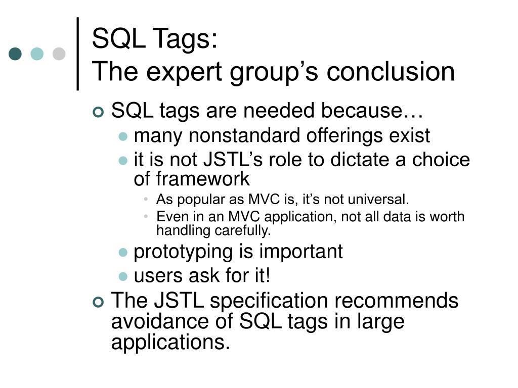 SQL Tags: