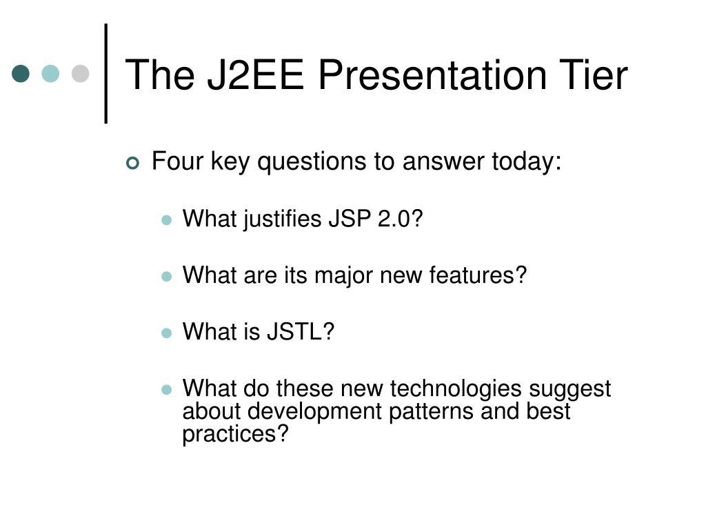 The J2EE Presentation Tier