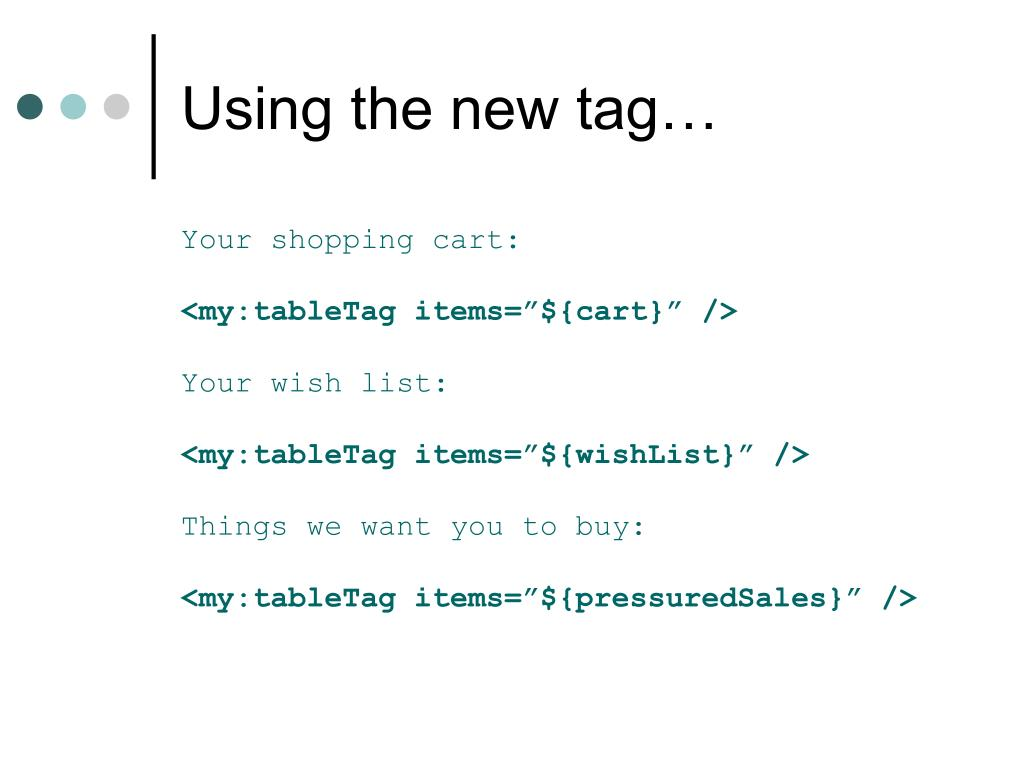 Using the new tag…