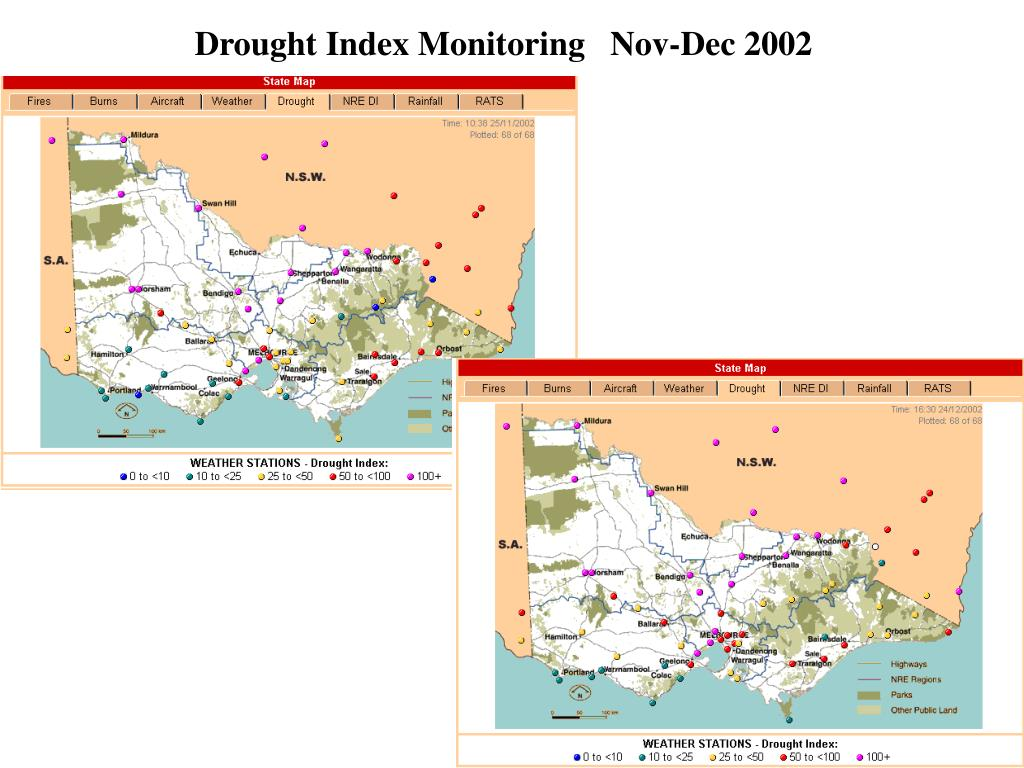 Drought Index Monitoring   Nov-Dec 2002