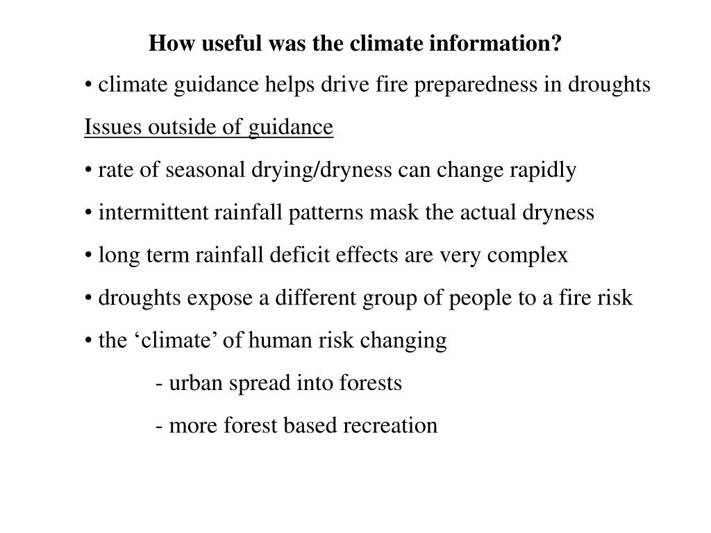 How useful was the climate information?