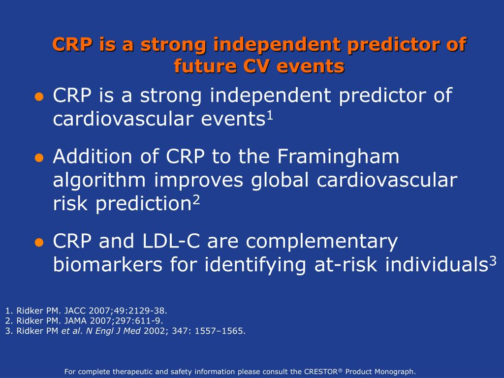CRP is a strong independent predictor of future CV events
