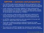 jupiter summary and perspectives