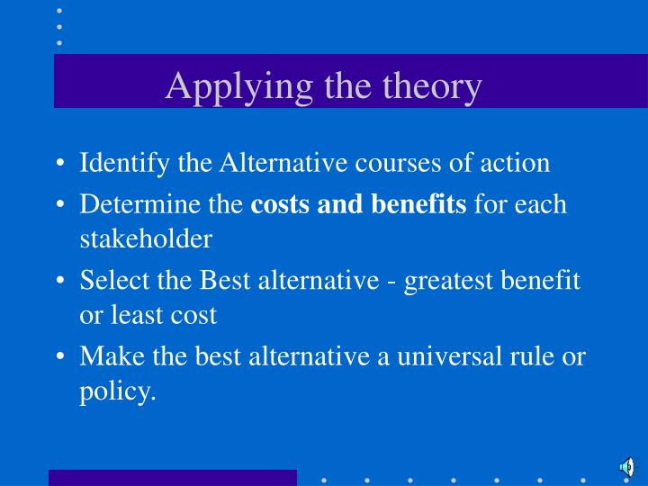 applying virtue ethics in the real Ethical theories to apply: utilitarianism, universal ethics, golden rule, virtue ethics  kant's categorical imperative), the golden rule and virtue ethics.