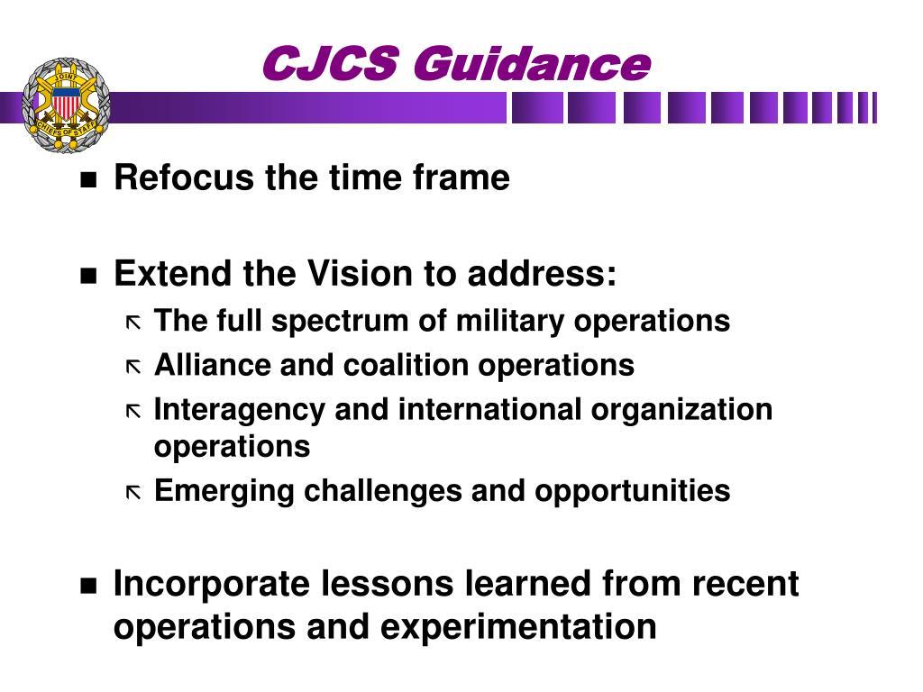 CJCS Guidance