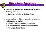 why a new document