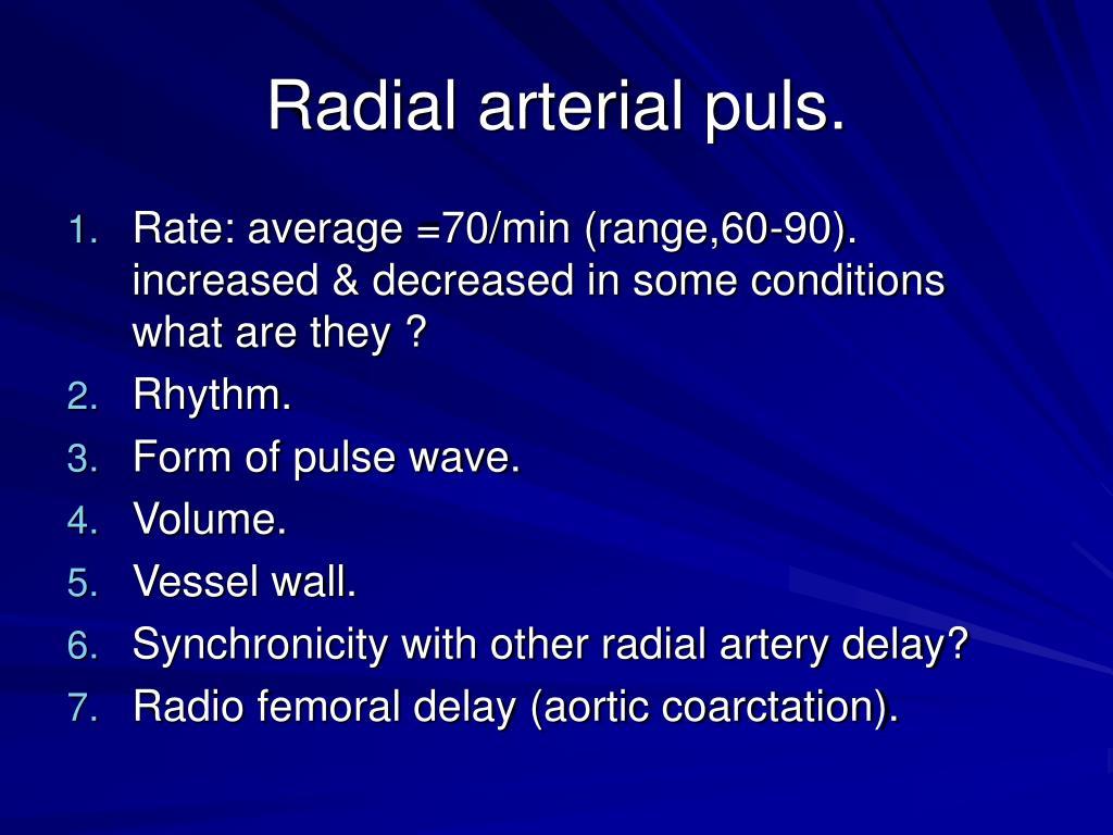 Radial arterial puls.