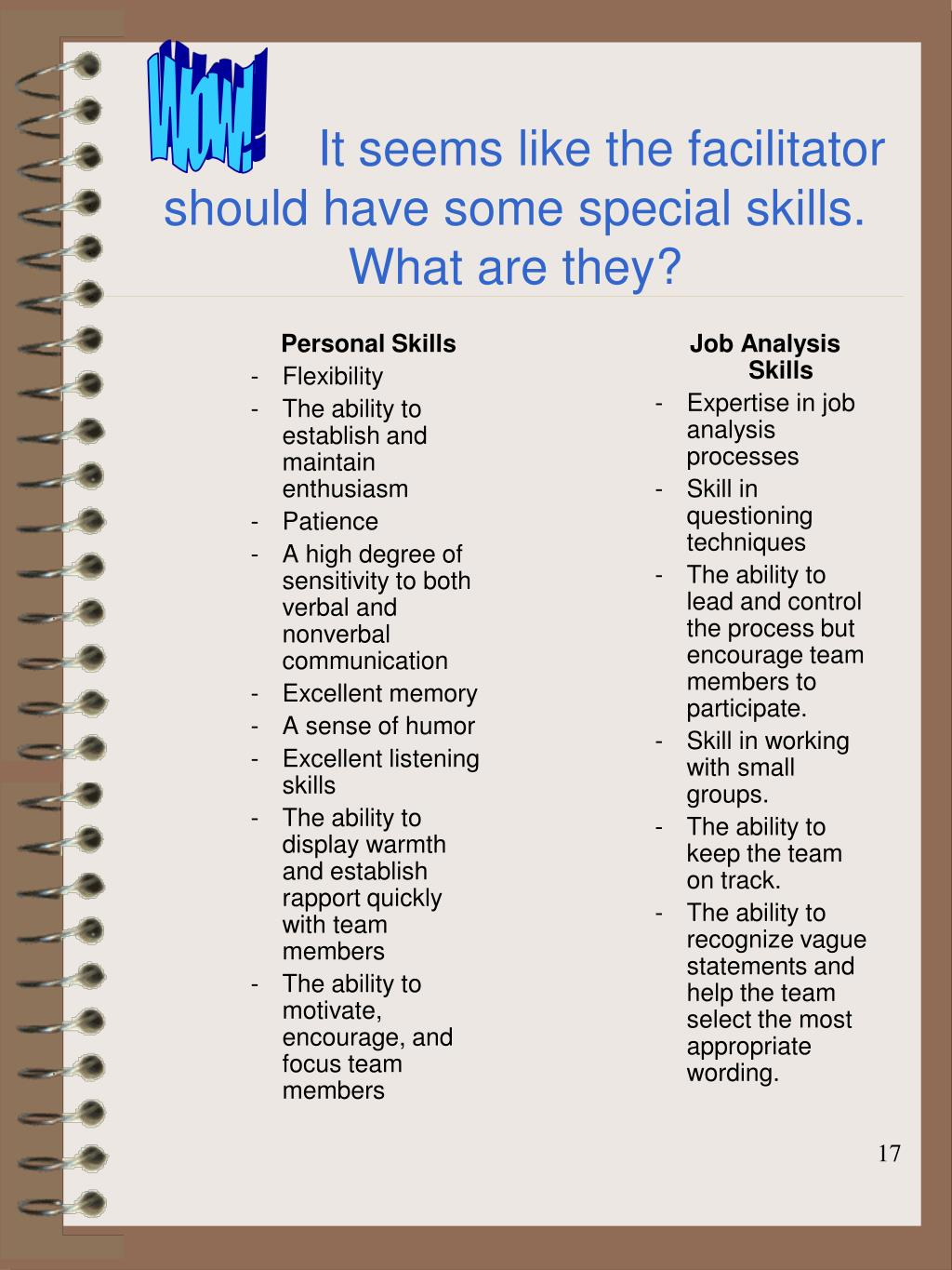 special skills for application