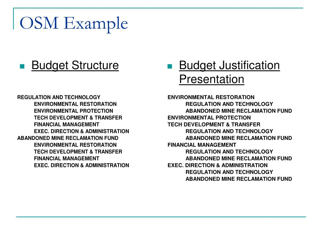 Budget Structure