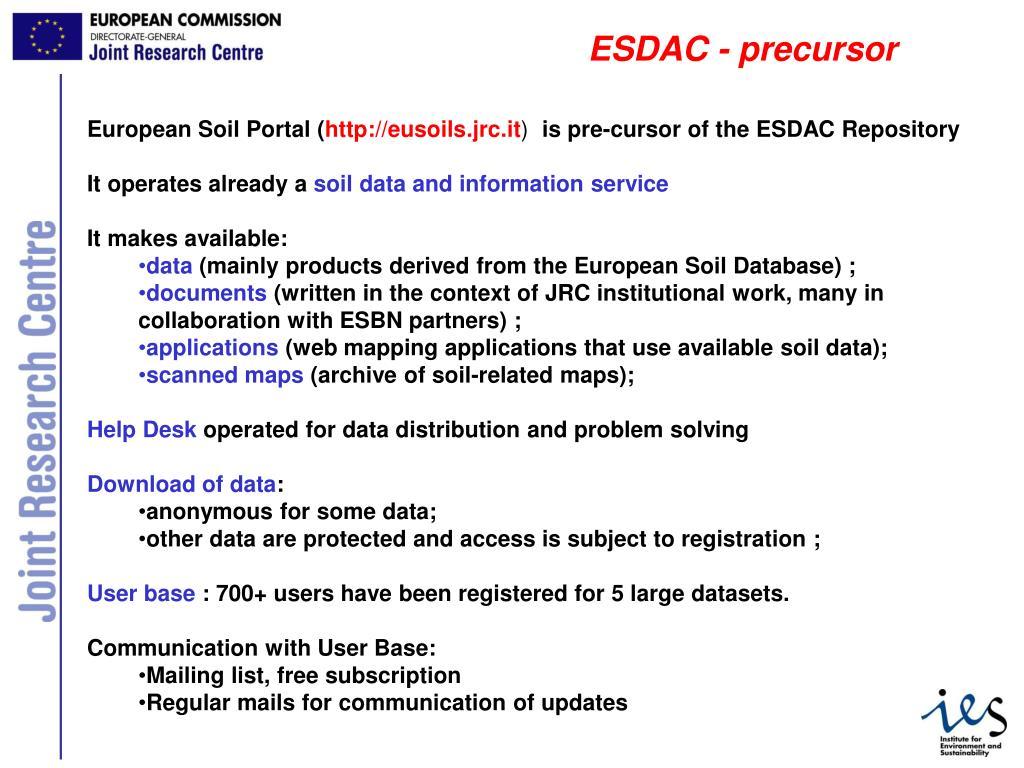 ESDAC - precursor
