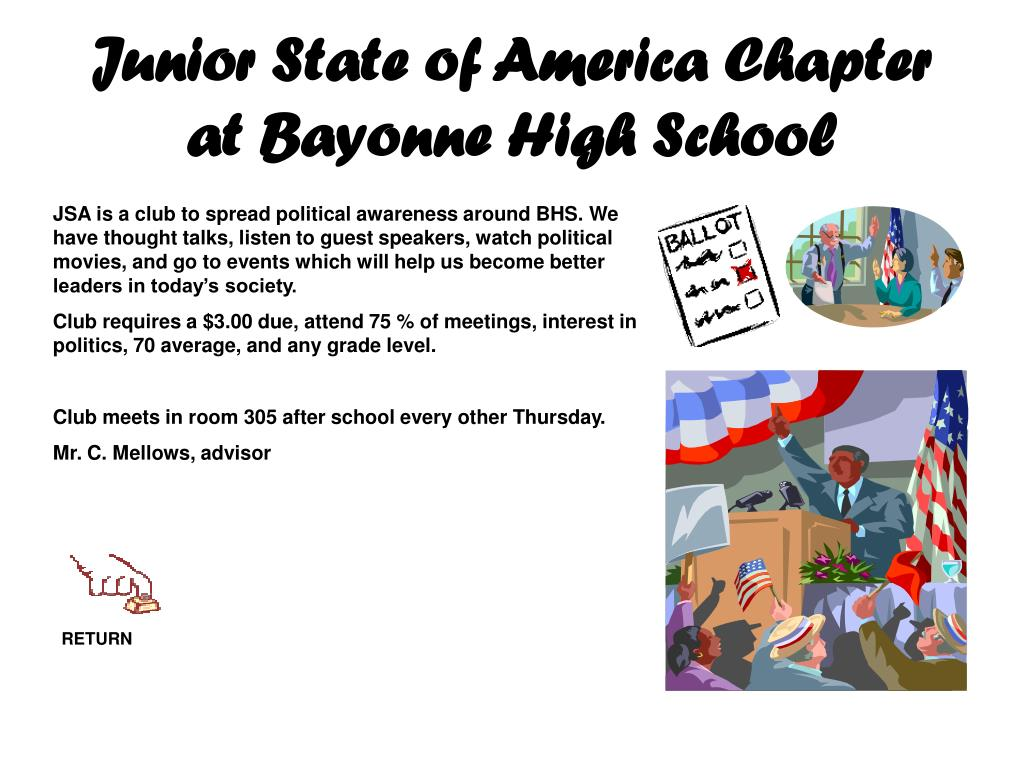 Junior State of America Chapter at Bayonne High School