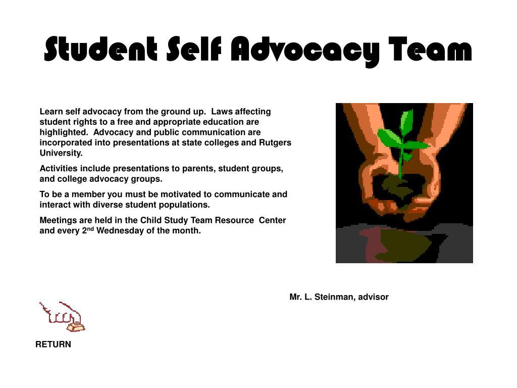 Student Self Advocacy Team