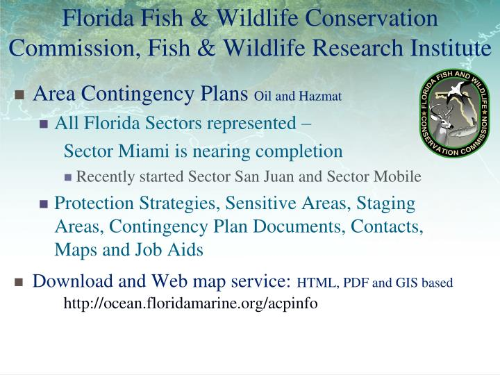 Florida fish wildlife conservation commission fish wildlife research institute