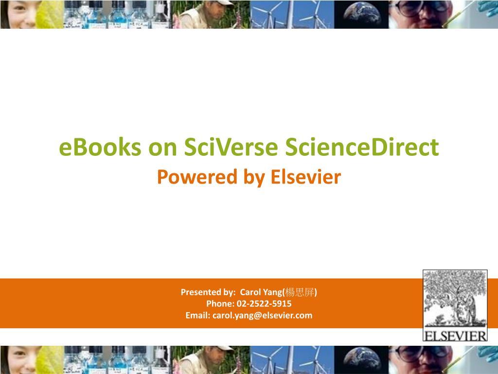 eBooks on SciVerse ScienceDirect