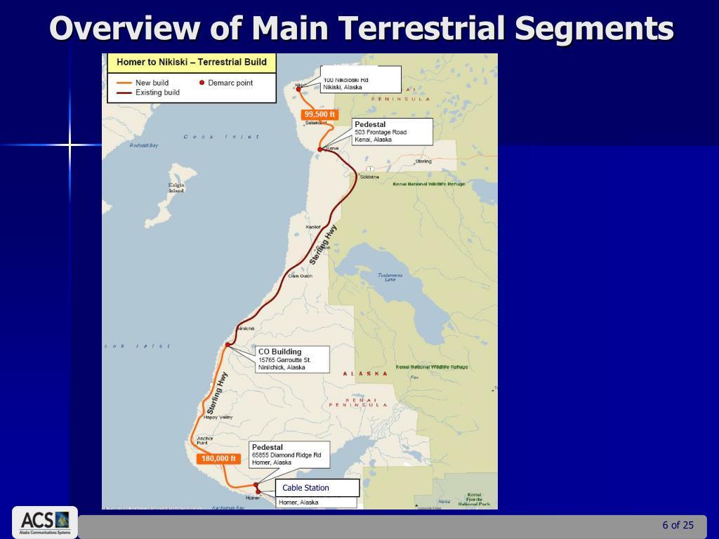 Overview of Main Terrestrial Segments