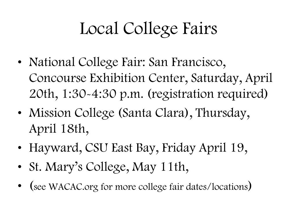 Local College Fairs