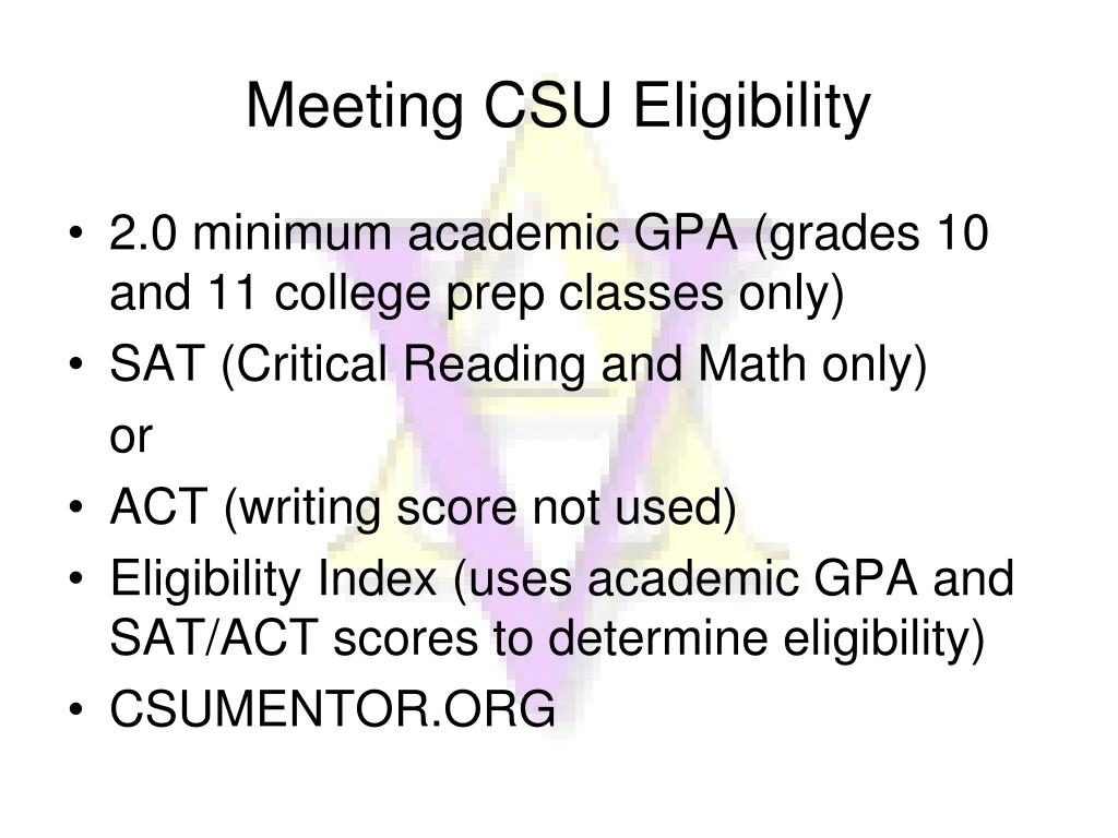 Meeting CSU Eligibility
