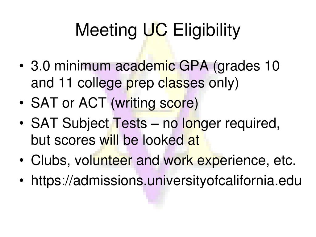 Meeting UC Eligibility