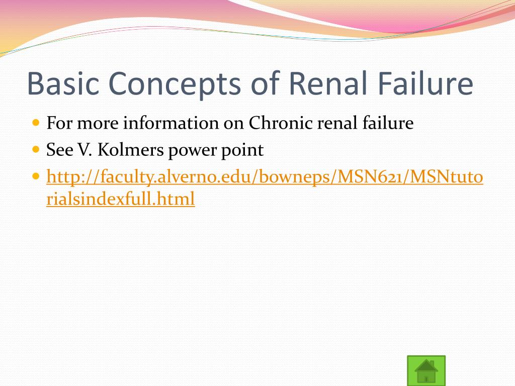 Basic Concepts of Renal Failure