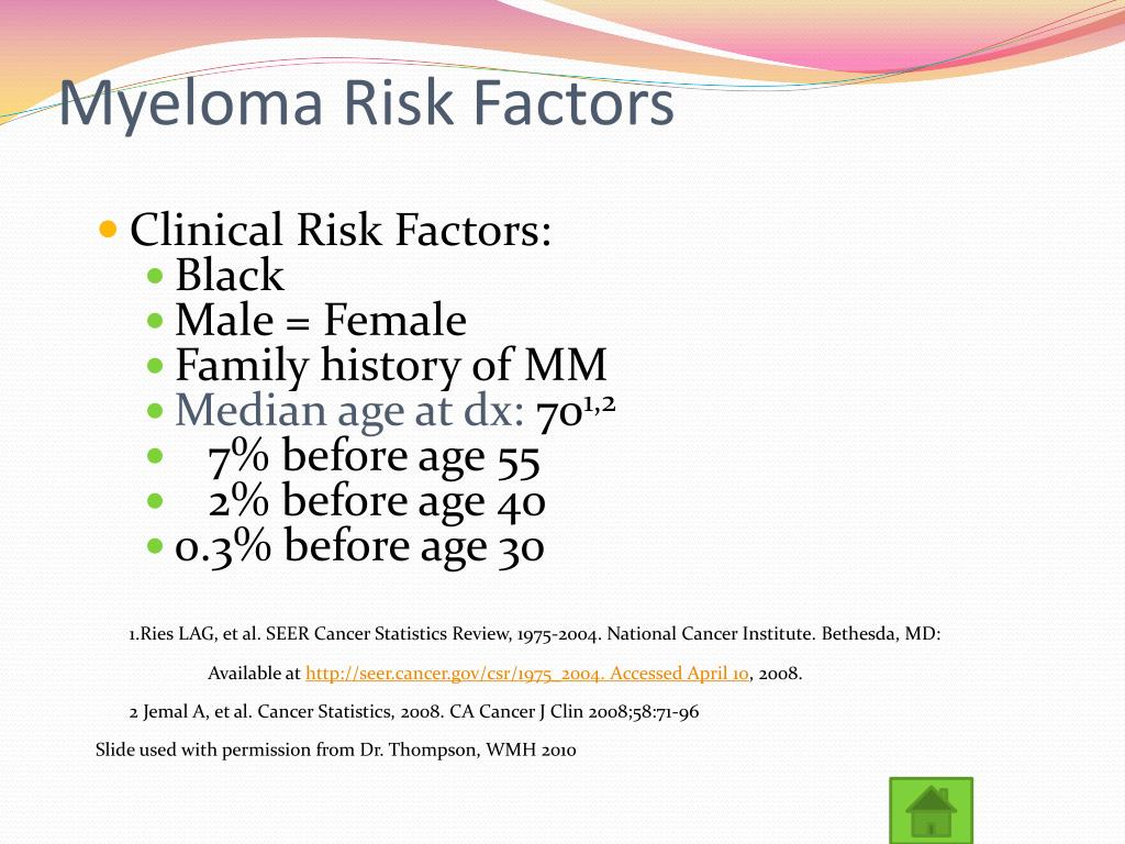 Myeloma Risk Factors