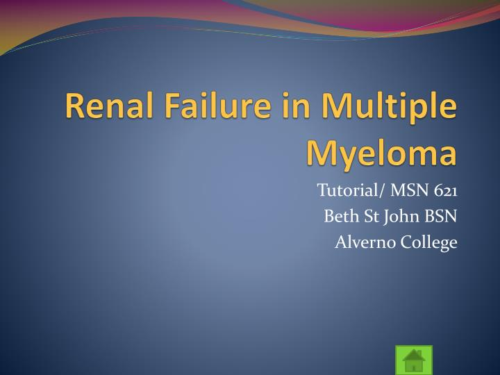 Renal failure in multiple myeloma l.jpg