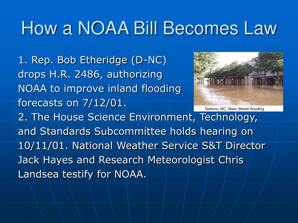 How a NOAA Bill Becomes Law