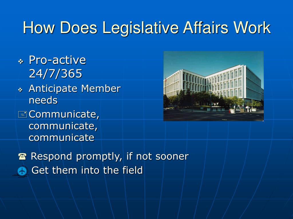 How Does Legislative Affairs Work