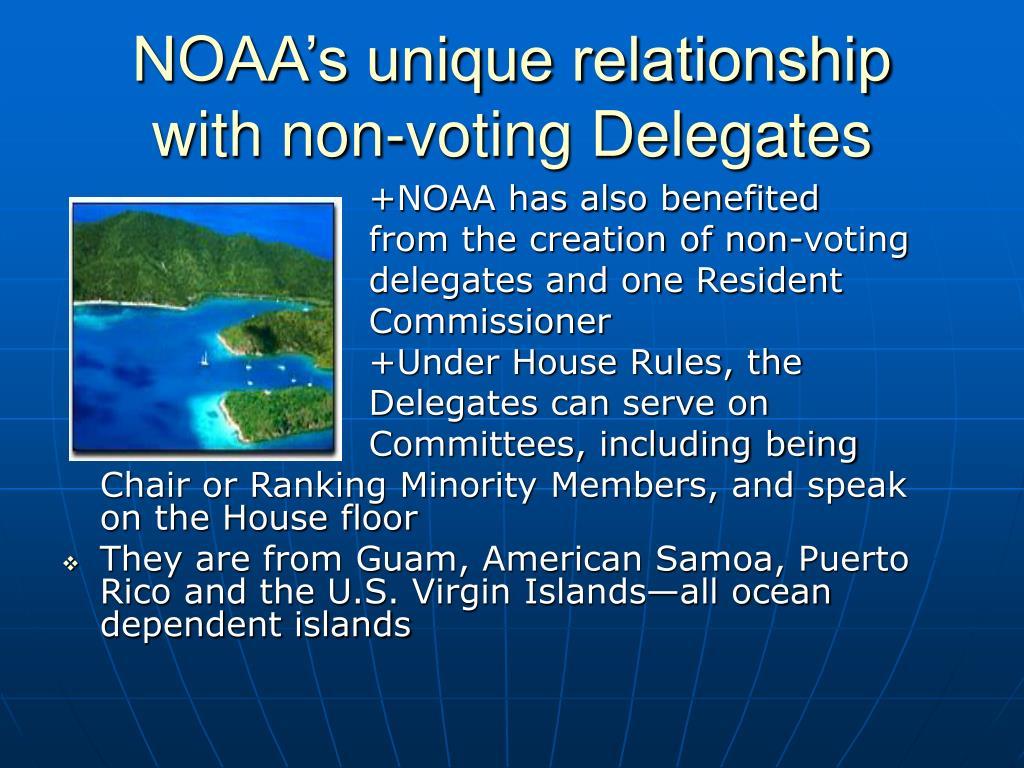 NOAA's unique relationship