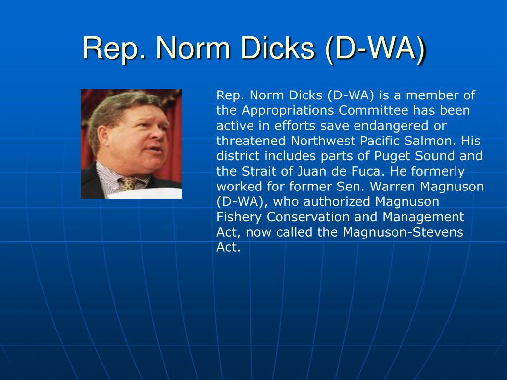 Rep. Norm Dicks (D-WA)