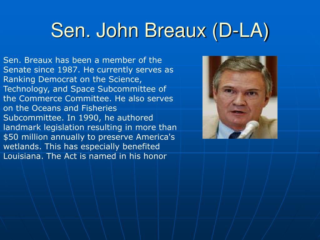 Sen. John Breaux (D-LA)