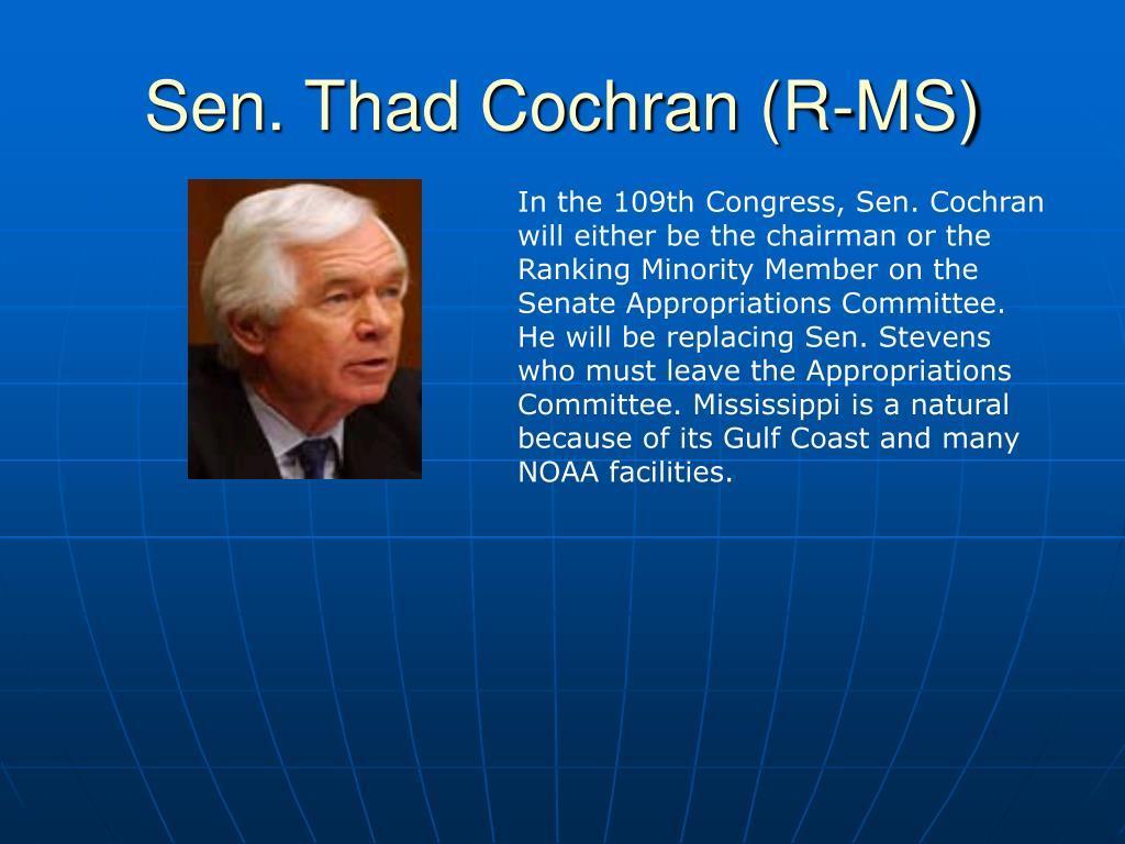 Sen. Thad Cochran (R-MS)