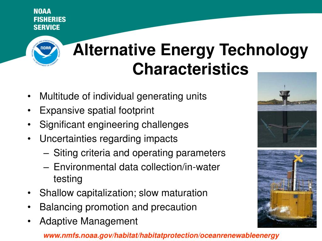 Alternative Energy Technology Characteristics