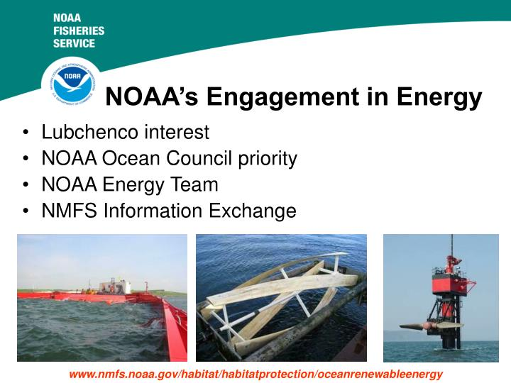 Noaa s engagement in energy