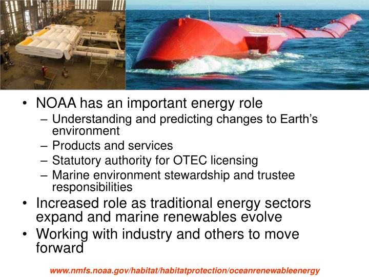 NOAA has an important energy role