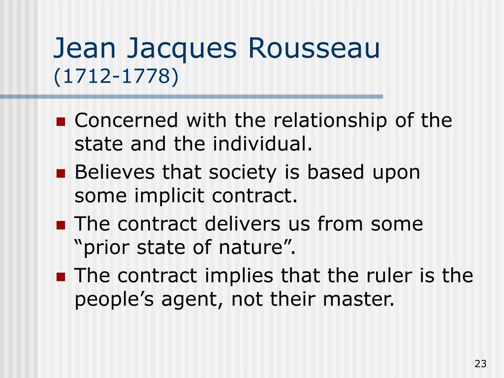 an analysis of the state of nature by locke and rousseau Locke describes international relations as a state of nature, and so in principle, states should have the same power to punish breaches of the natural law in the international community that individuals have in the state of nature.