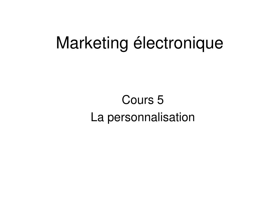Marketing électronique