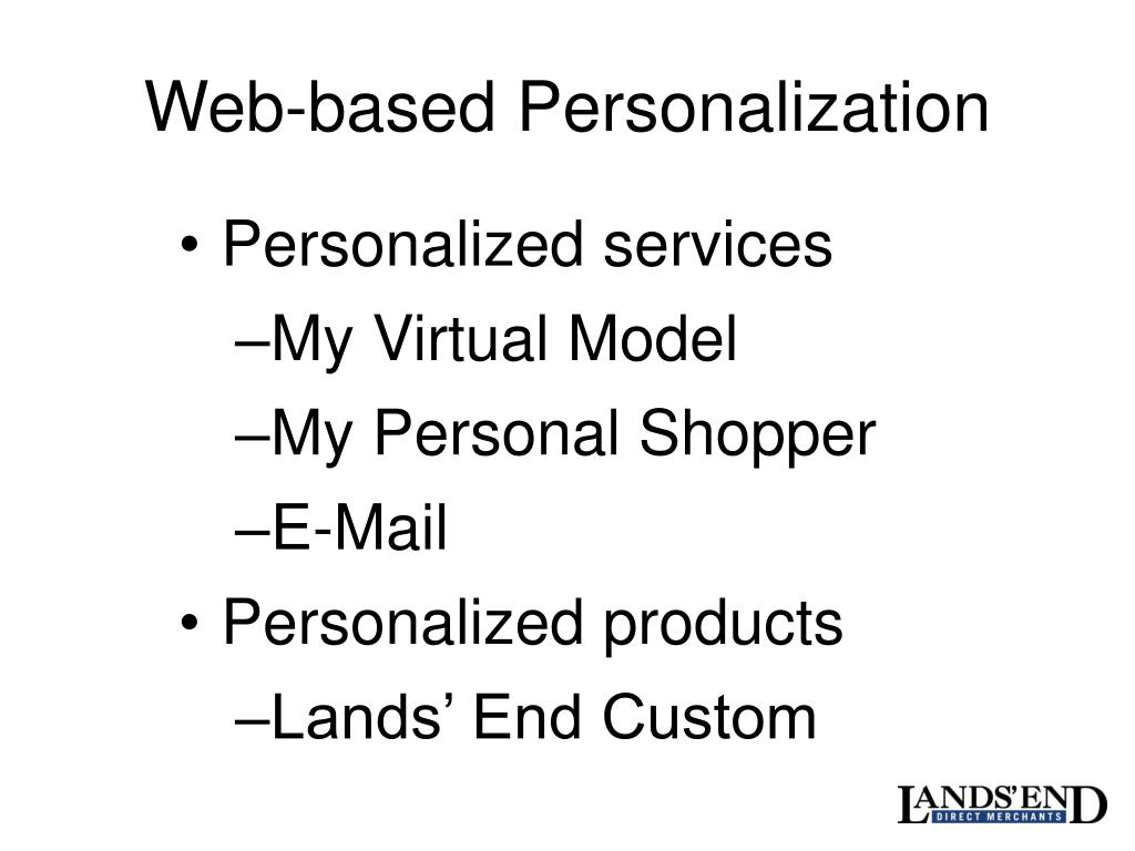 Web-based Personalization