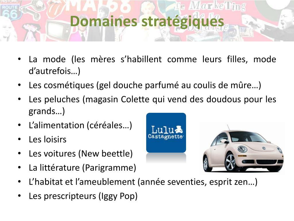 Domaines stratégiques