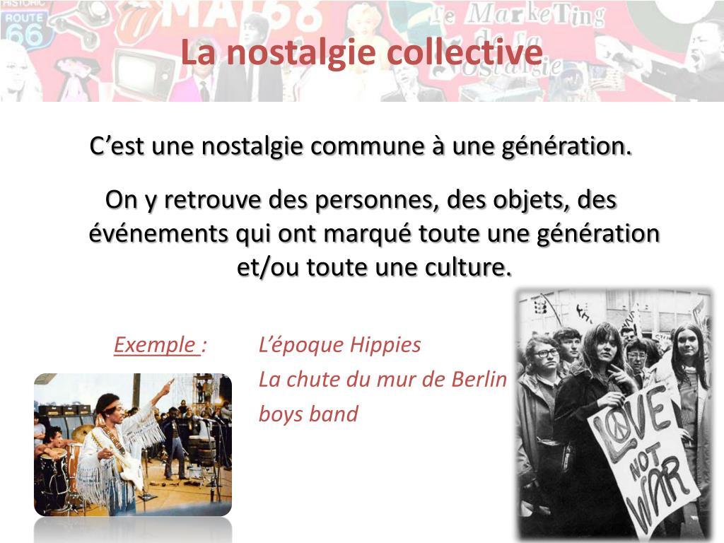 La nostalgie collective