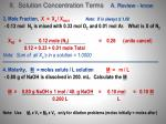 ii solution concentration terms a review know