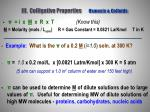 iii colligative properties osmosis colloids